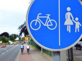 Gibt es einen Radweg wie diesen (getrennter Geh- und Radweg), muss er von Radfahrern auch benutzt werden. Foto: B. Kalle – Kreis Unna