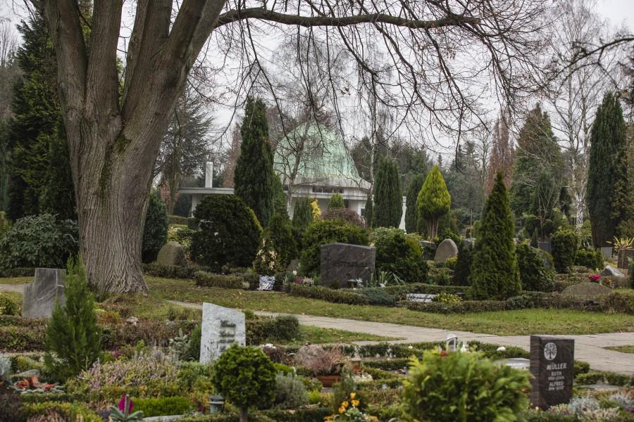 Mehrere Wasserzapfanlagen sind von Vandalen  auf dem Kommunalfriedhof  zerstört worden.  Das Wasser muss zur Reparatur vorübergehend abgestellt werden. (Foto: P. Gräber - Emscherblog)