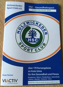 HSC-Gesundheitssport: Programmheft zum Kursstart ins 3. Quartal