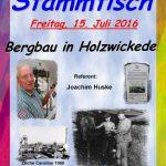 Senioren-Stammtisch zum Bergbau mit Joachim Huske