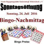 Bingo-Nachmittag in der Begegnungsstätte