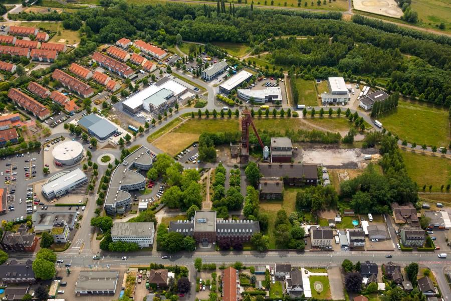 Ein großer Teil des Kreises Unna – hier der Technopark in Kamen – ist oder war stark von der Industrie geprägt. (Foto: H. Blossey – Kreis Unna)