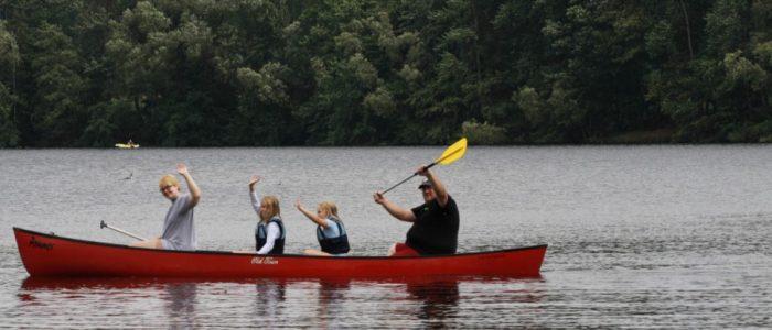 Kleine Kanutour über die Buddenkuhle mit den Orcas der DLRG Holzwickede. (Foto: privat)