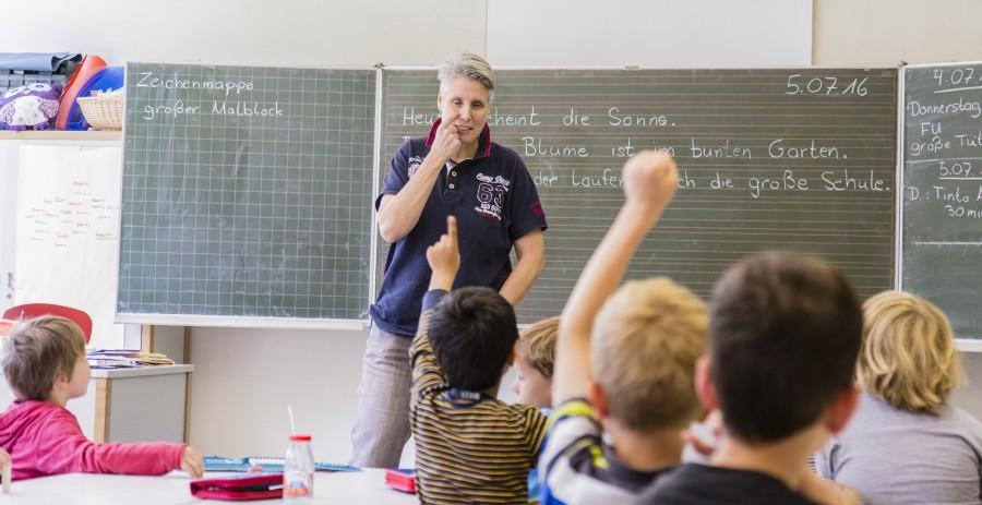 Die Dudenrothschule lädt die Eltern der neuen Schulanfänger am  Mittwoch (21.9.) zu einem Informationsabend und in der kommenden Woche zum Unterruichtsbesuch ein. (Foto: P. Gräber)