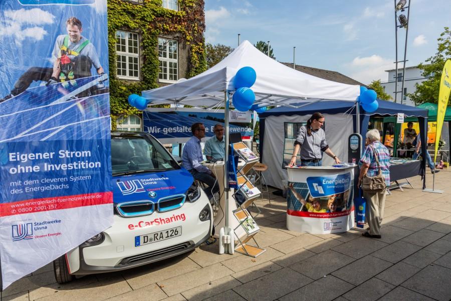 Holzwickeder Umwelttage: Nachhaltigkeitsmarkt auf dem Marktplatz. (Foto: P. Gräber - Emscherblog)