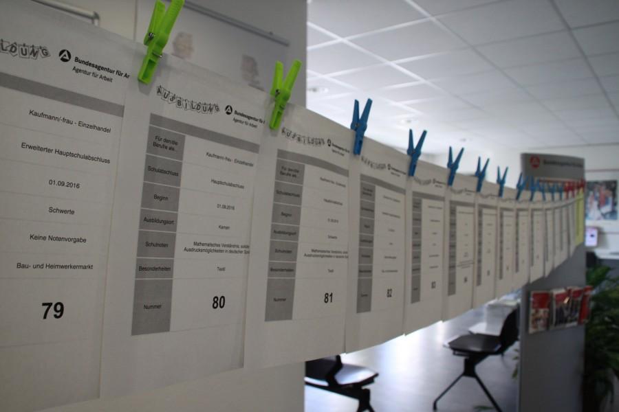 Auf der Nachvermittlungsaktion in Unna und Lünen wurden insgesamt 200 offene Ausbildungsstellen angeboten. (Fotografin: Nathalie Neuhaus)