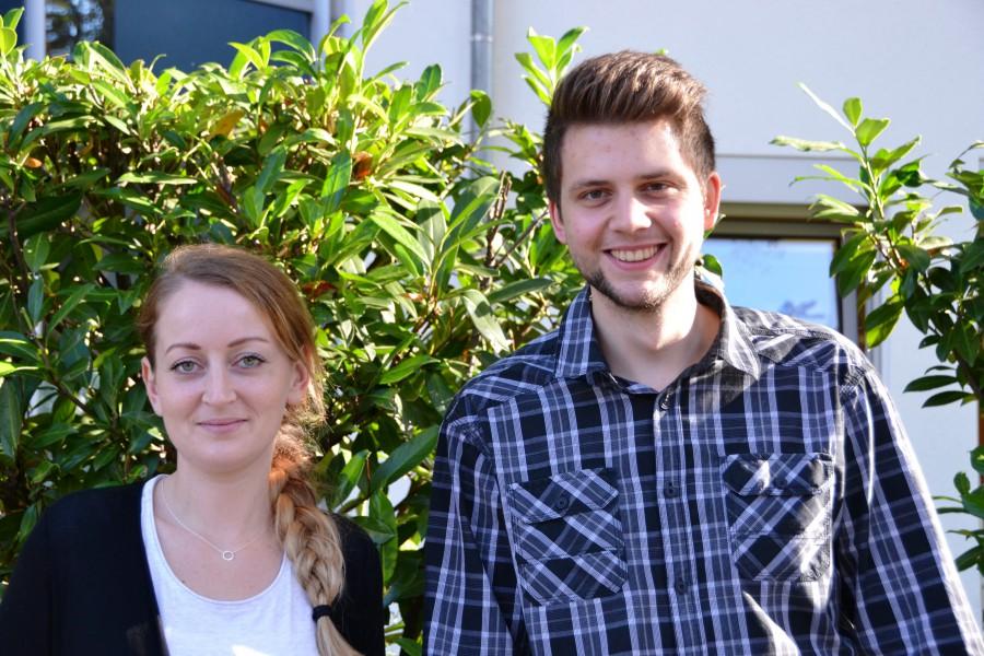 Neu im Team der WFG: Viktoria Walter und Kai Klimko. Foto: WFG (Ute Heinze)