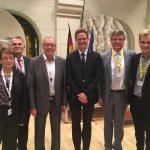 Aktive der Partnerschaft mit Louviers treffen deutschen Botschafter in Chambéry