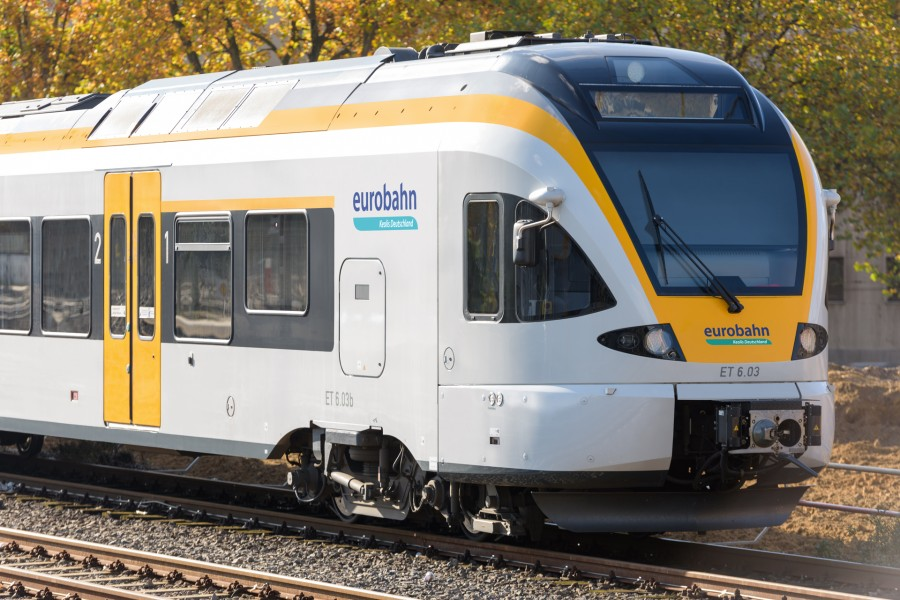 Die Züge der Linie R 59 fallen wegen Bauarbeiten zwischen Holzwickede und Soest vom 8. bis 12. April aus. Ein Schienenersatzverkehr mit Bussen wird eingerichtet. (Foto: Eurobahn)
