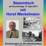 """""""Erinnerungen an den Wiederaufbau des Ruhrgebiets"""" beim Senioren-Stammtisch"""