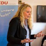 CDU-Stand mit Bianca Dausend auf dem Wochenmarkt