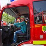Feuerwehrtag: Löschzug Mitte macht große und kleine Kinder glücklich