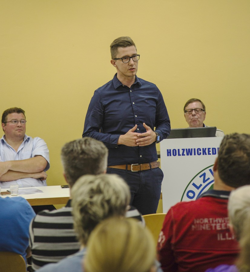 Sebastian Bennet wurde einstimmig zum neuen 1. Vorsitzenden des HSC gewählt. (Foto: P. Gräber - Emscherblog.,de)