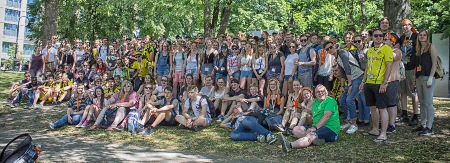 Erstmalks besuchten 200 junge Menschen aus drei Jugendeinrichtungen in Frömern, Dellwig und Holzwickede-Opherdicke den Kirchentag in Berlin. (Foto: privat)