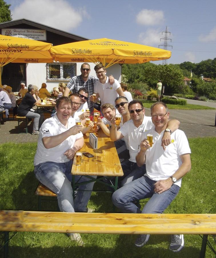 Das Vereinsheim in der Kleingartenanlage Am Oelpfad war am Vatertag Ziel zahlreicher Ausflügler. (Foto: privat)