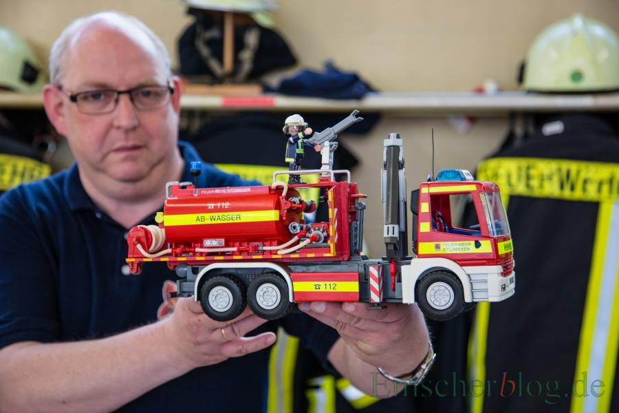 Auch die Ausstellung mit Playmobil-Feuerwehrfahrzeugen von Jörg Hansen wird beim Eröffnungsfest der Feuer- und Rettungswache Süd zu sehen sein. (Foto: P. Gräber - Emscherblog.de)