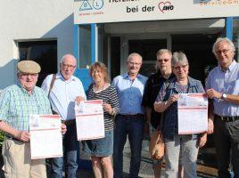 Die Vorstandsmitglieder der AWO im Kreis Unna gehörten zu den ersten Unterzeichner der Unterschriften-Kampagne.(Foto: AWO KV Unna)