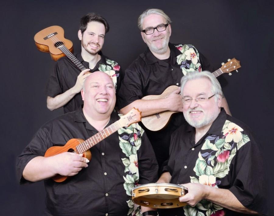 Das Ukelelen-Quartett The Lucky Ukes gastiert in der katholischen Kirche Opherdicke. (Foto: Agentur)