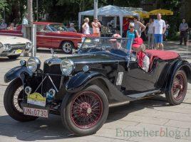 Dieses schmucke Oldtimer-Cabrio wird vermutlich auch wieder bei der 10. Oldtimerausfahrt am Haus Opherdicke mit dabei sein. (Foto: P. gräber - Emscherblog)