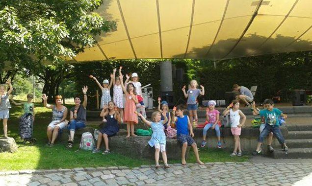 Die Kinder der OGS bei ihrem Besuch im Maxi-Park am Mittwoch dieser Woche. (Foto: privat)