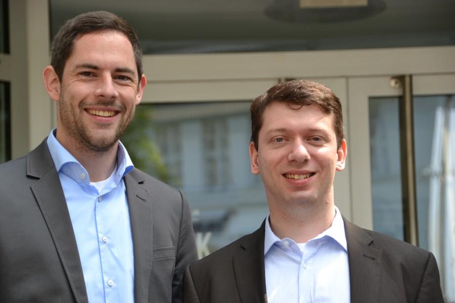 Verstärken seit Juli das Team der WFG: Ansgar Burchard (links) und Markus Sobotta. (Foto: WFG - Ute Heinze)