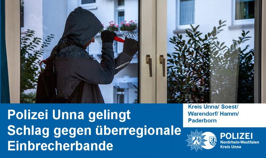 Die Kreispolizei Unna hat eine überregional aktive Einbrecherbande dingfest machen können. (Foto: Polizei)
