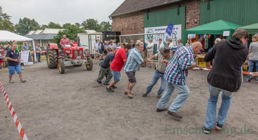 Für das Treckerziehen werden noch starke Männer und Frauen gesucht. (Foto: P. Gräber - Emscherblog.de)