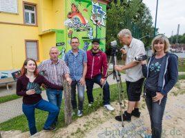Stellten das ambitionierte Filmprojekt heute vor, v.l.: Ralf Sonnenberg, Ralf Neumann, Kerstion Dreisbach.Dirb, Fleur Vogel, Achim Bröcking, Ede Friedrichs. (Foto: P. Gräber - Emscherblog.de)