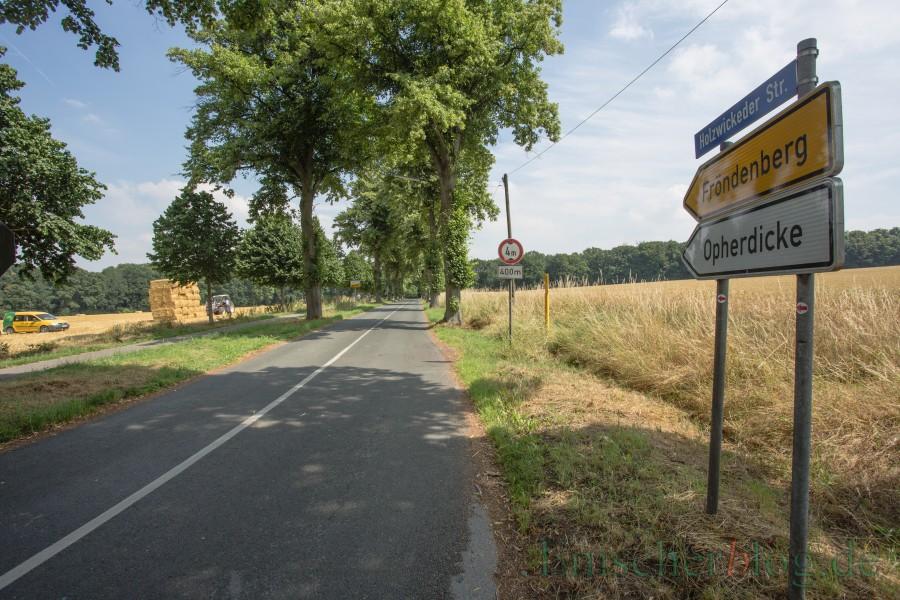 Auch  die Holzwickeder Straße erhält von der Autobahnbrücke bis zur Unnaer Straße eine neue Fahrbahndecke. (Foto: P. Gräber - Emscherblog.de)