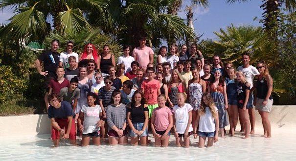 40 Kinder und Jugendliche aus Holzwickede, Fröndenberg und Bönen verbrachten zwei aufregende Wochen an der Costa Brava. Bereits seit 1998 fahren die Gruppen des Kreises Unna ans Mittelmeer. Foto: Kreis Unna