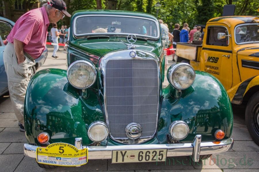 Mit seinem Mercedes Benz Typ 230 W 153, Bj. 1939, nahm Steckel auch an der Haarstrang Klassik des MSC im Juli teil. (Foto: P. Gräber - Emscherblog.de)