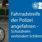Fahrradstreife der Polizei angefahren: Polizistin leicht verletzt