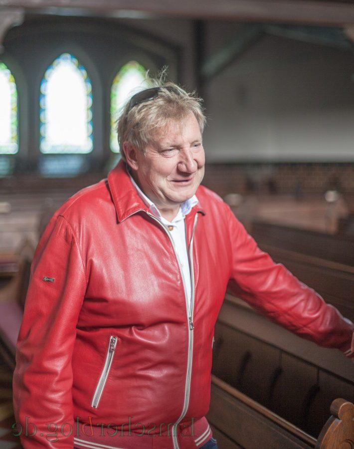 Schätz die Atmosphäre in Kirchen bei seinen Konzerten: Theo, alias Theo Spanke, alias Raoul Vandetta. (Foto: P. Gräber - Emscherblog.de)