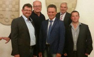 Der neugewählte CDU-Fraktionsvorstand: Frank Lausmann, Dieter Buckemüller, Frank Markowski, Roland Schütrtforth und Marco Lammert. (Foto: CDU)