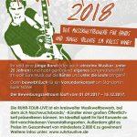 Nachwuchsmusiker aufgepasst: Bewerbungsphase Ruhrtour Live 2018 läuft