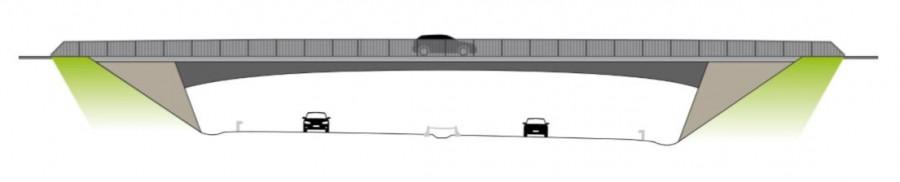 Diese Planskizze zeiugt, wie die Brücke in Sölde nach dem Ausbau aussehen wird. (Skitte: DEGES)