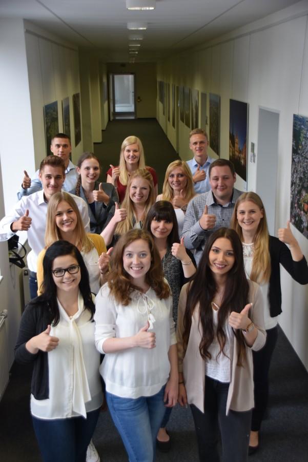 Im Sommer begannen wieder junge Leute ihre Ausbildung beim Kreis: Auzubildende der Kreisverwaltung. (Foto: Kreis Unna)