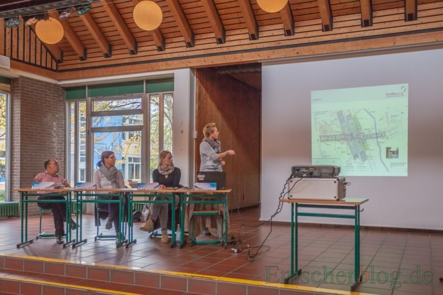 Die Vertreter von Straßen NRW informierten heute im Forum über die Baumaßnahme und ihre Auswirkungen. (Foto: P. Gräber - Emscherblog.de)