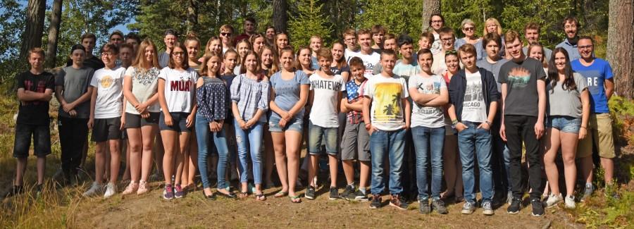 Die Teilnehmer der Schweden-Freizeit der Ev. Jugend Holzwickede. in diesem Jahr. Im kommenden Jahr bietet die Ev. Jugend ein neues Ziel in Schweden an. (Foto: privat)