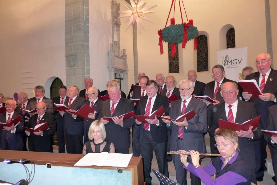 Der MGV Eintracht Hengsen bereiutet sich auf sein Adventskonzert am 17., Dezember in der ev. Kirche Opherdicke vor. (Foto: privat)