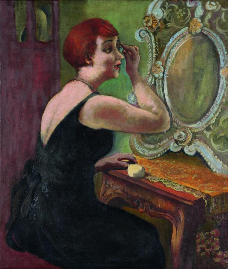 August Wilhelm Dressler, Vor dem Spiegel, um 1930, Öl auf Leinwand, Sammlung Karsch/Nierendorf. (Foto: Thomas Kersten - Kreis Unna)