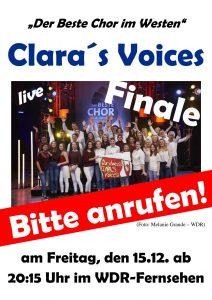 """""""Clara's Voices"""" hofft auf den Sieg: Jeder Anruf zählt!"""