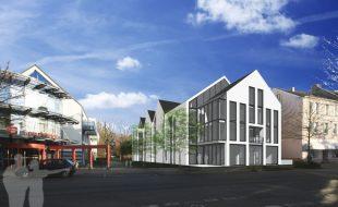So soll die neue Bebauung Höhe Hauptstraße 31 nach Vorstellung der Planer aussehen. (Fotomontage Deterding Architektur)