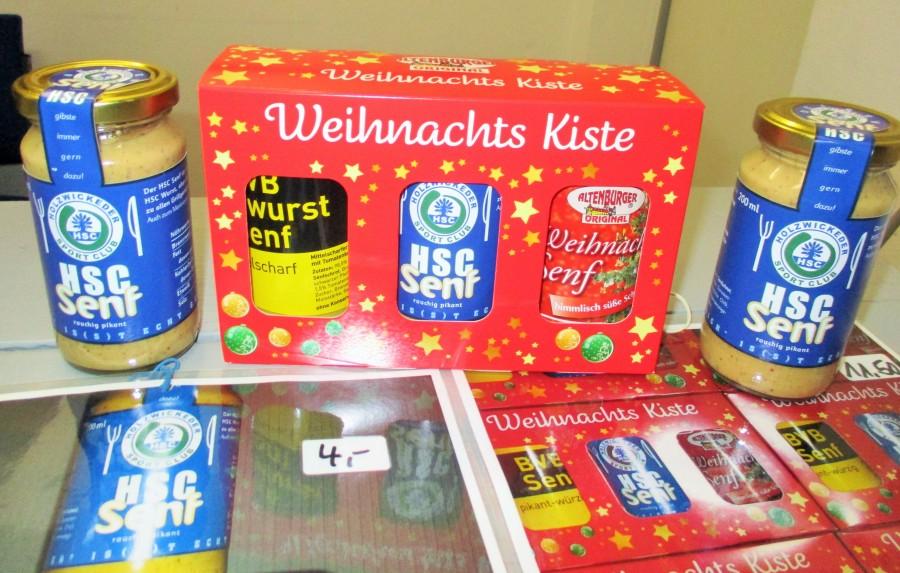 Rechtzeitig zu Weihnachten gibt der HSC nun seinen Senf dazu: Ab sofort im Ballhaus erhältlich.  (Foto: privat)