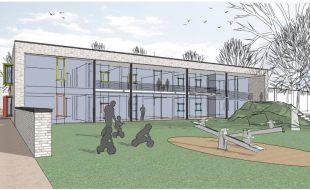 Durch die nunmehr zweigeschossige Planung kann die neue Kita auf 2.000 qm Fläche untergebracht werden. (Entwurf: Weiss und Wessel)
