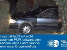Verkehrsunfallflucht (Foto: Polizei Unna)