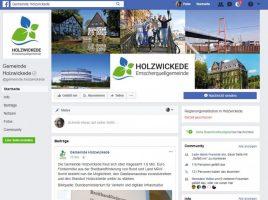 Die Gemeinde Holzwickede ist jetzt auch bei Facebook mit einer eigenen Seite (Screenshot) präsent. (Foto: Screenshot -