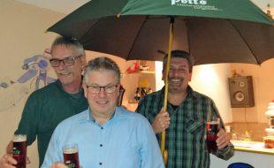 Beim Landbierabend des MSC wurden die Clubmeister ermittelt: v.l.: Frank Neuhaus, Jürgen Becker, Frank Griese. (Foto: privat)