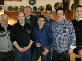 Der neue Vorstand des Landwirtschaftlichen Ortsverbandes, v.l.: von links nach rechts: Heinrich Fiene, Jörg Krumme, Wilhelm Eickel, Axel Buse, Maik Middelschulte; Manfred Bolle; Lars Berger . (Foto: privat)