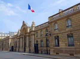 Eingang Élysée-Palast in Paris (Sitz des Franz. Präsidenten)